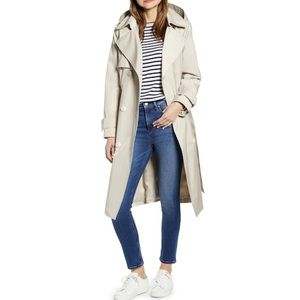 NWT FRENCHCONNECTION DoubleBreasted Hooded Trench